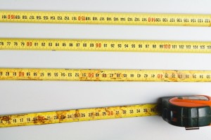 photograph of several lengths of measuring tape